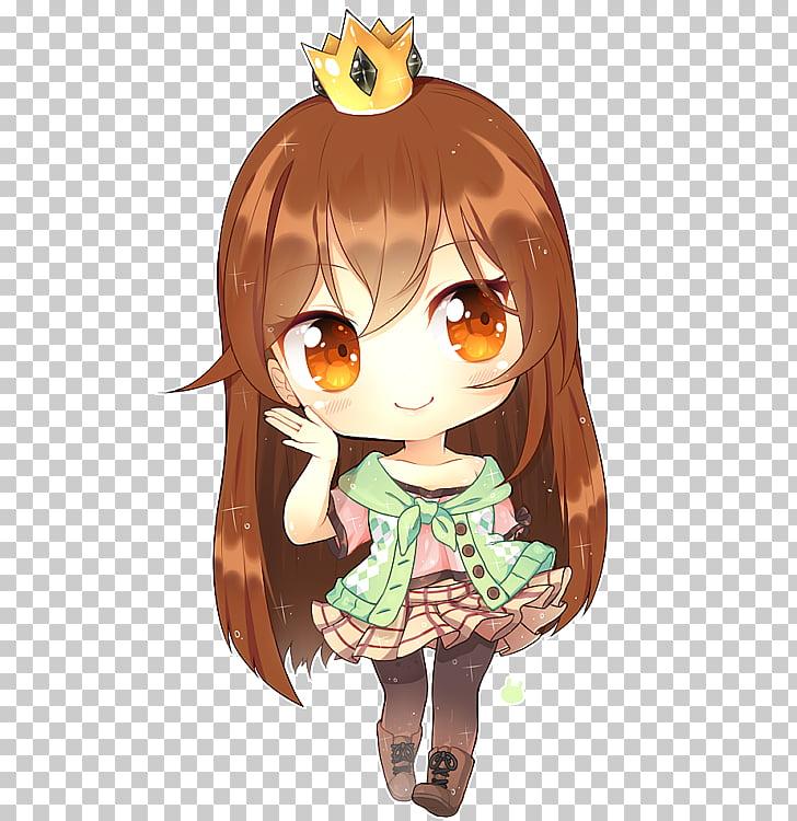 Chibi Anime Drawing Kavaii, Chibi, brown haired girl anime.