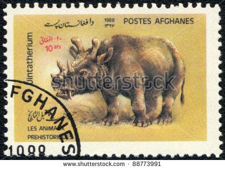 Uintatherium Stock Photos, Royalty.