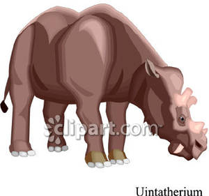 Uintatherium_Dinosaur_Royalty_Free_Clipart_Picture_081113.