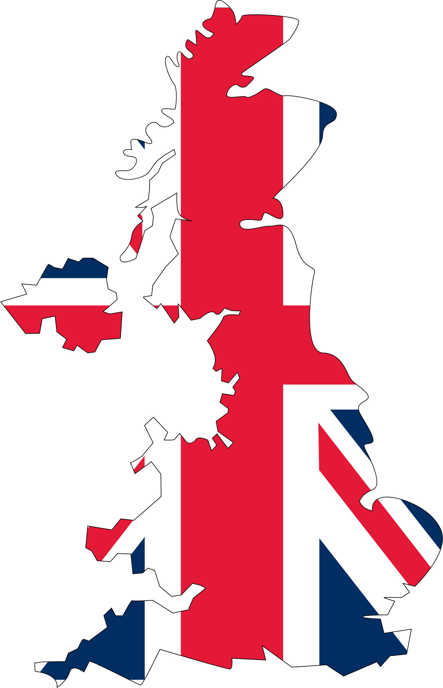 The uk clipart map.