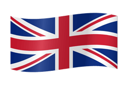 The United Kingdom flag clipart.