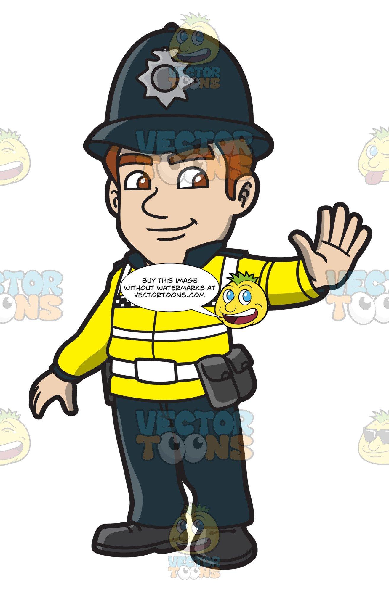 A British Male Traffic Police.