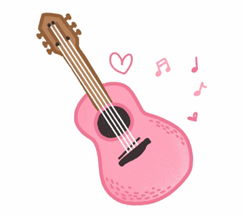 Drawing Guitar Ukulele Clipart Cute Guitar.