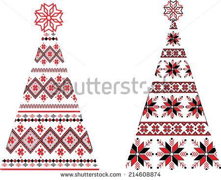 Ukrainian Christmas trees.