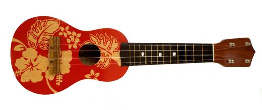 Christmas ukulele clipart.