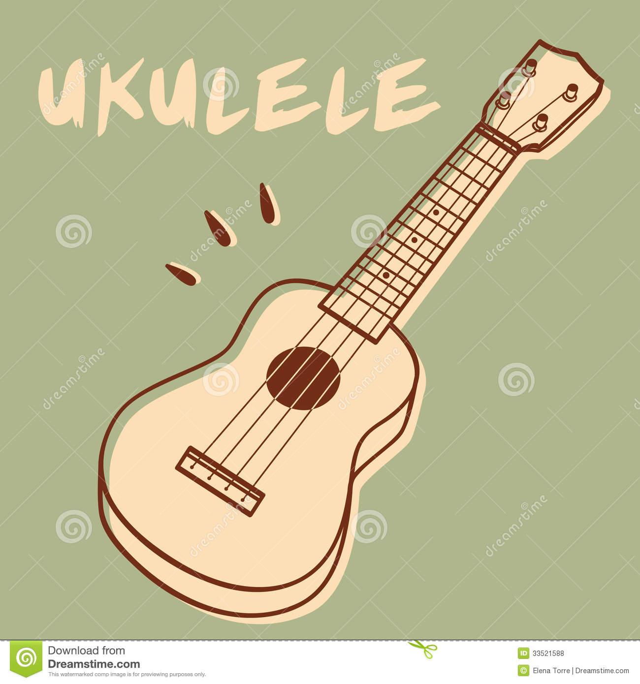 Ukulele Stock Illustrations.