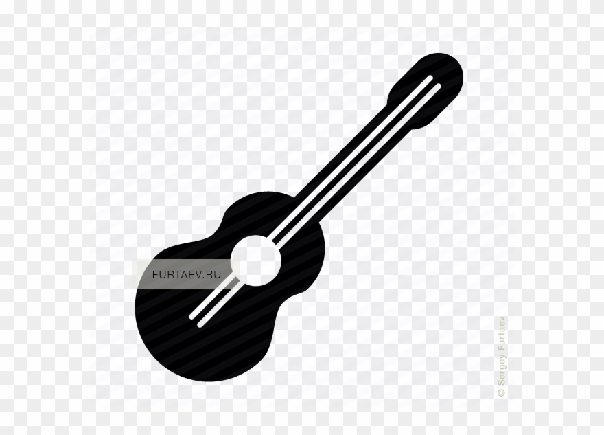 Ukulele Vector Black And White Vector Royalty Free.