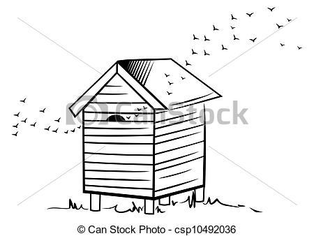 Vectors of Bee hive.