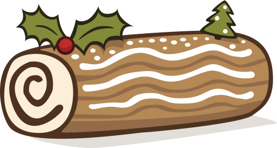 Showing post & media for Cartoon dessert yule log.