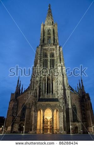 Ulm Münster Stock Photos, Royalty.