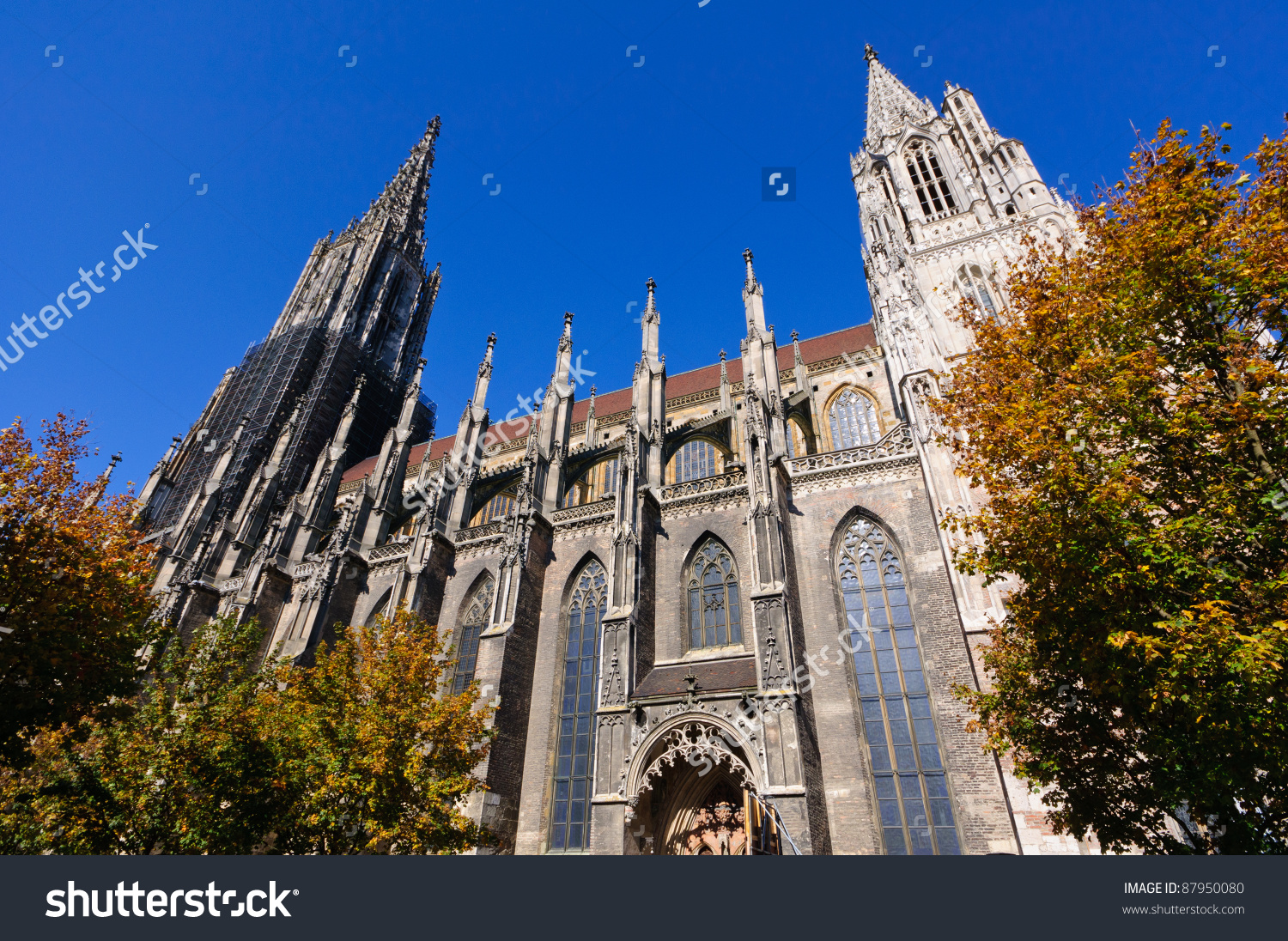 Ulm Cathedral In Germany Stock Photo 87950080 : Shutterstock.