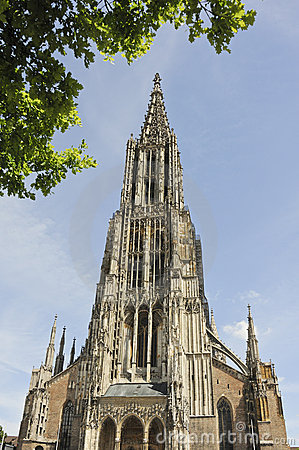 Ulm Cathedral Stock Photo.