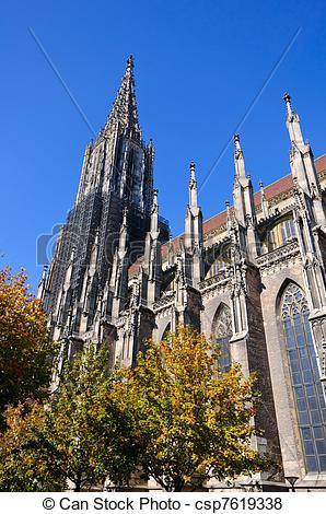 Pictures of Ulm Cathedral in Germany. The Catheral is a gothic.