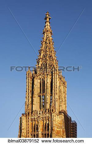 "Stock Photo of ""Spire, Ulm Minster, Ulm, Baden."
