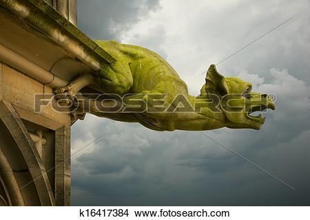 Stock Photo of gargoyle on Ulm Munster church k16417384.