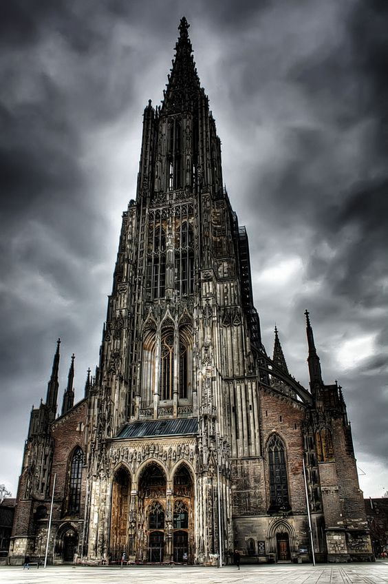 Ulm Cathedral, Germany. A Lutheran church, is the tallest church.