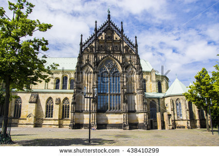 Cathedral Germany Munster Stock Images, Royalty.
