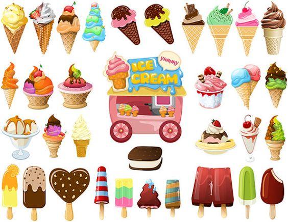Instant Download Digital Ice Cream Clip Art Popsicle Clip Art Ice.