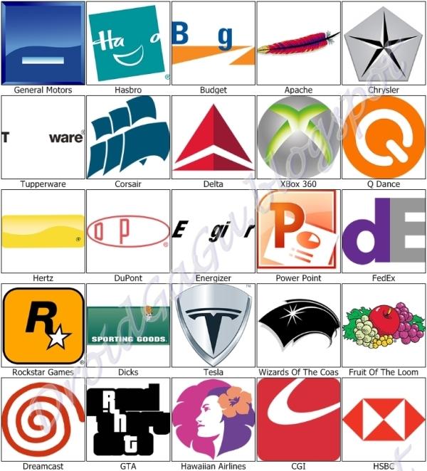 Level 9 symblCrowd Logo Quiz Ultimate Answers.
