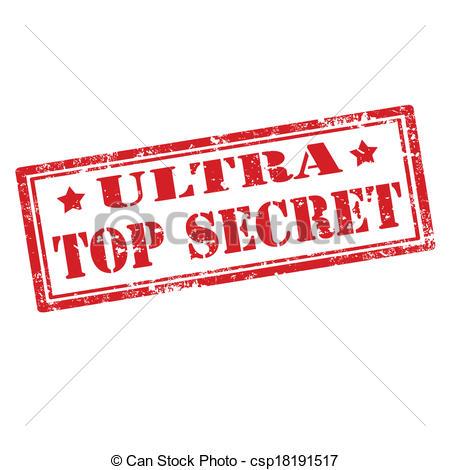 Vector Clip Art of Ultra Top Secret.