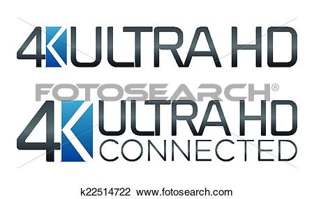 Clipart of American 4K Ultra HD Label k22514722.