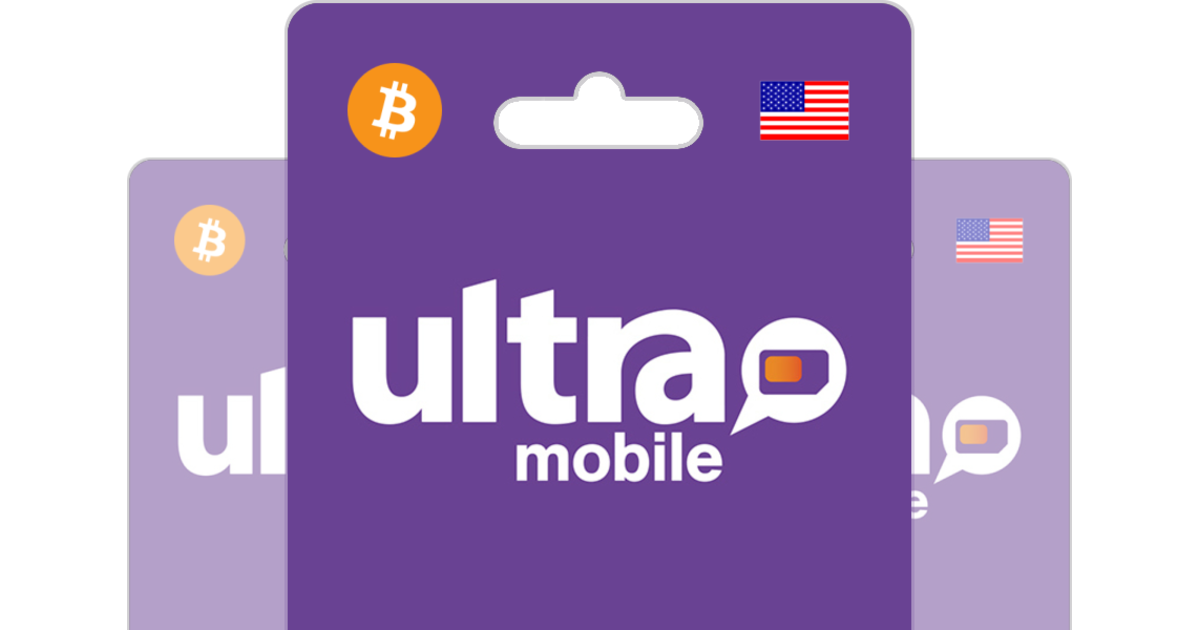Ultra Mobile Prepaid Top Up with Bitcoin.