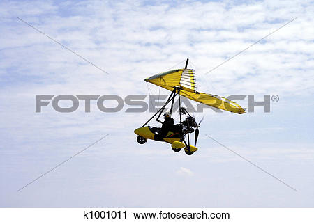 Stock Photography of ultralight aircraft 1 k1001011.
