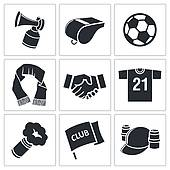 Clip Art of Soccer fans ultras icon collection k21036708.