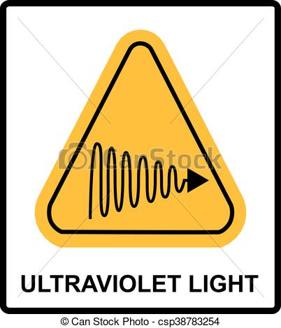 Clipart Vector of Intensity Ultraviolet Light Protect Your Eyes.