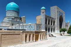 Domes Of Mosque In Samarkand, Uzbekistan Stock Images.