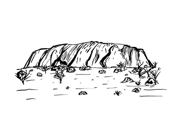 Uluru A4 Art Print Ayers Rock Art Print Alice Springs.