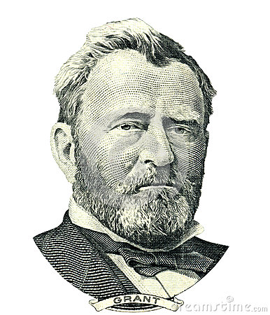 Portrait Of Ulysses S. Grant Royalty Free Stock Image.