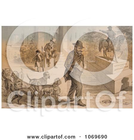 Historical Illustration of Union Lieutenant General Ulysses S.