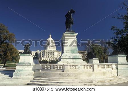 Stock Image of Washington, DC, U.S. Capitol, Ulysses S. Grant.