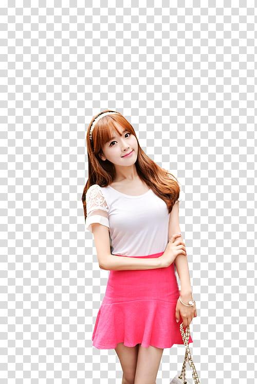 Ulzzang Girl, woman holding sling bag transparent background.