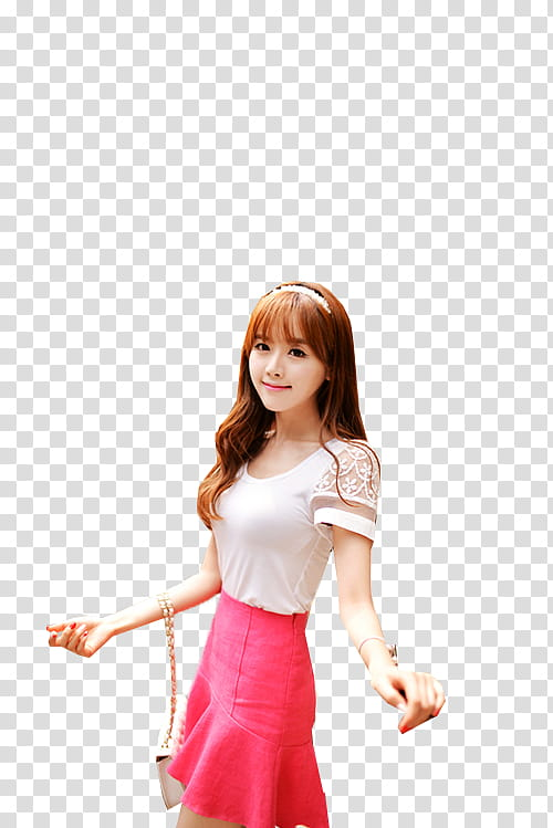 Ulzzang Girl, woman in white and pink skater dress.