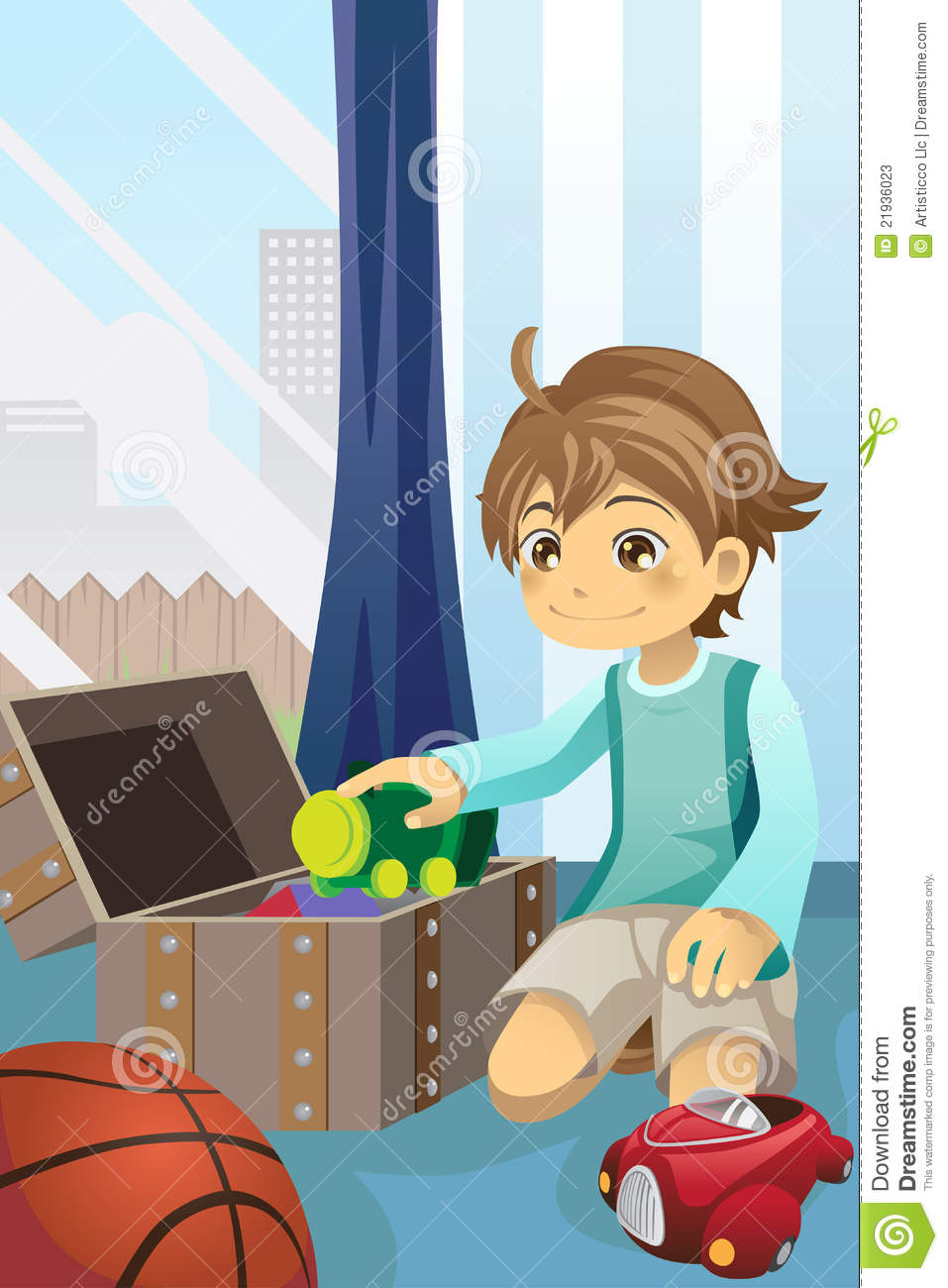 Pick Up Toys Girl Clipart.