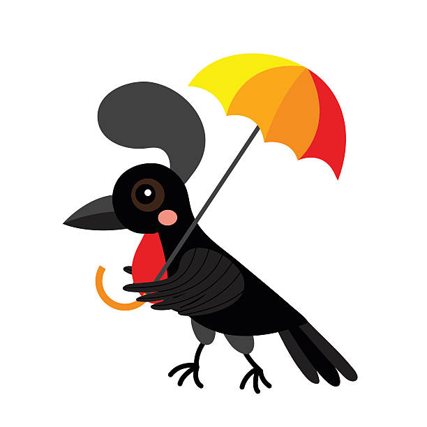 Umbrella Bird Clipart.