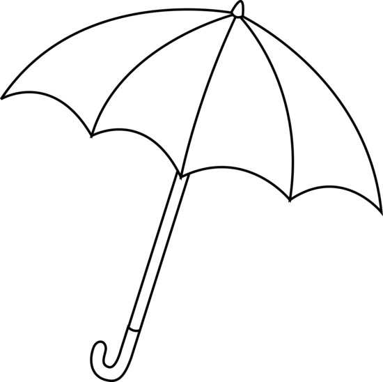 Umbrella black and white clipart 3 » Clipart Station.
