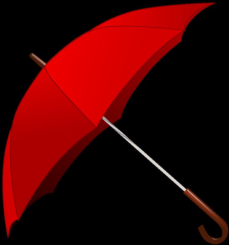 Free Clipart: Red Umbrella.