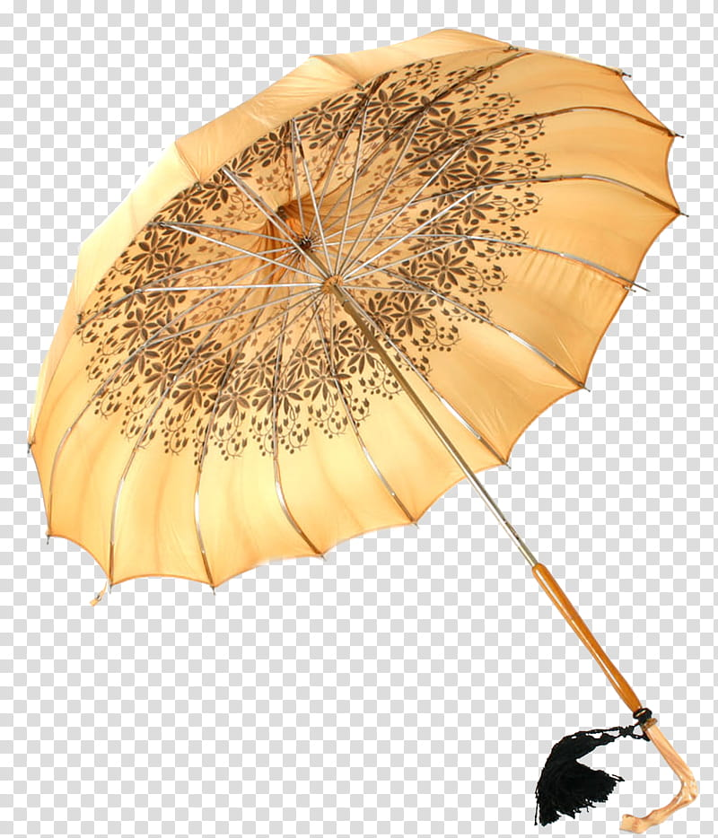 Brown and black umbrella transparent background PNG clipart.
