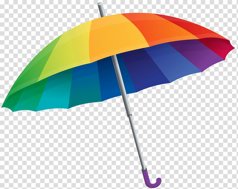 Umbrella , Rainbow Umbrella , opened multicolored umbrella.