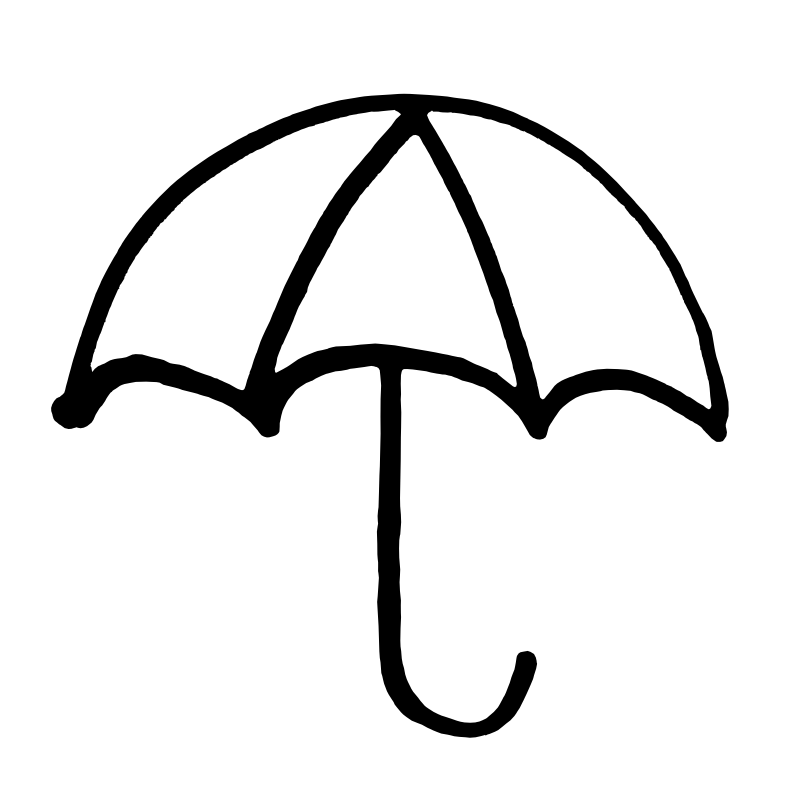 Umbrella clipart black and white 4 » Clipart Station.