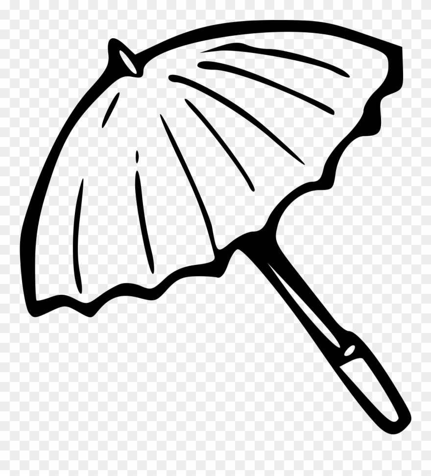 Umbrella Black And White Beach Umbrella Clipart Black.