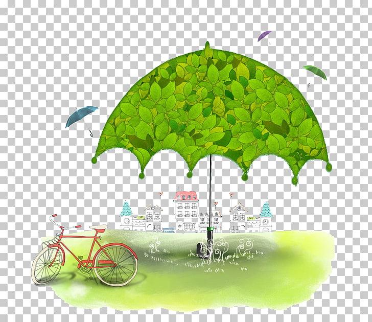 Umbrella Computer file, Green umbrella PNG clipart.