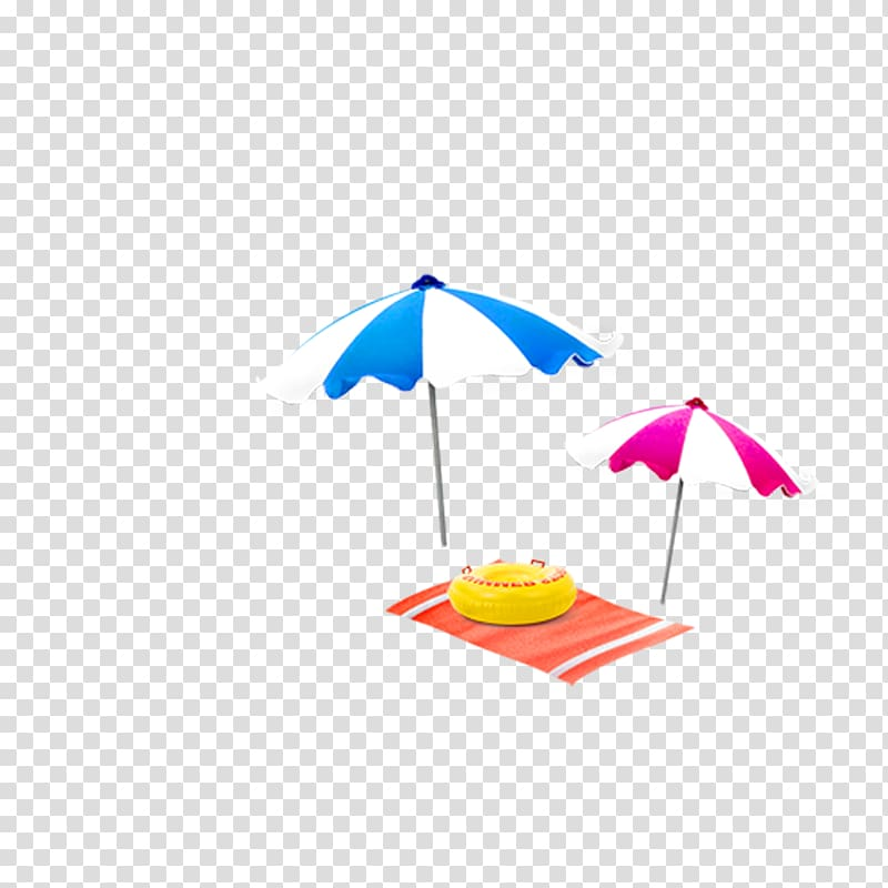 Umbrella Beach Computer file, Parasol transparent background.