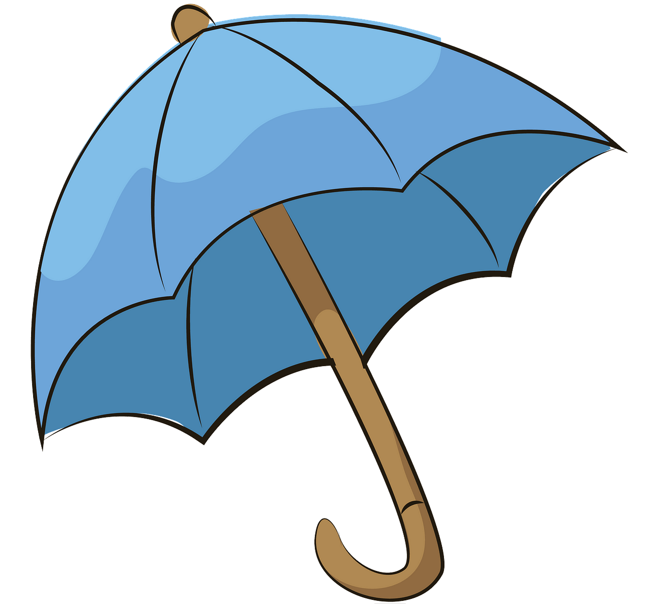 Blue umbrella clipart. Free download..