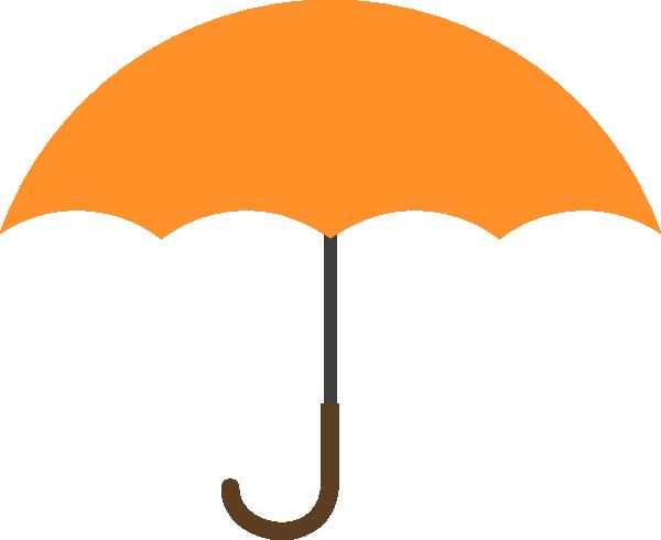 Orange Umbrella Clip Art at Clker.com.