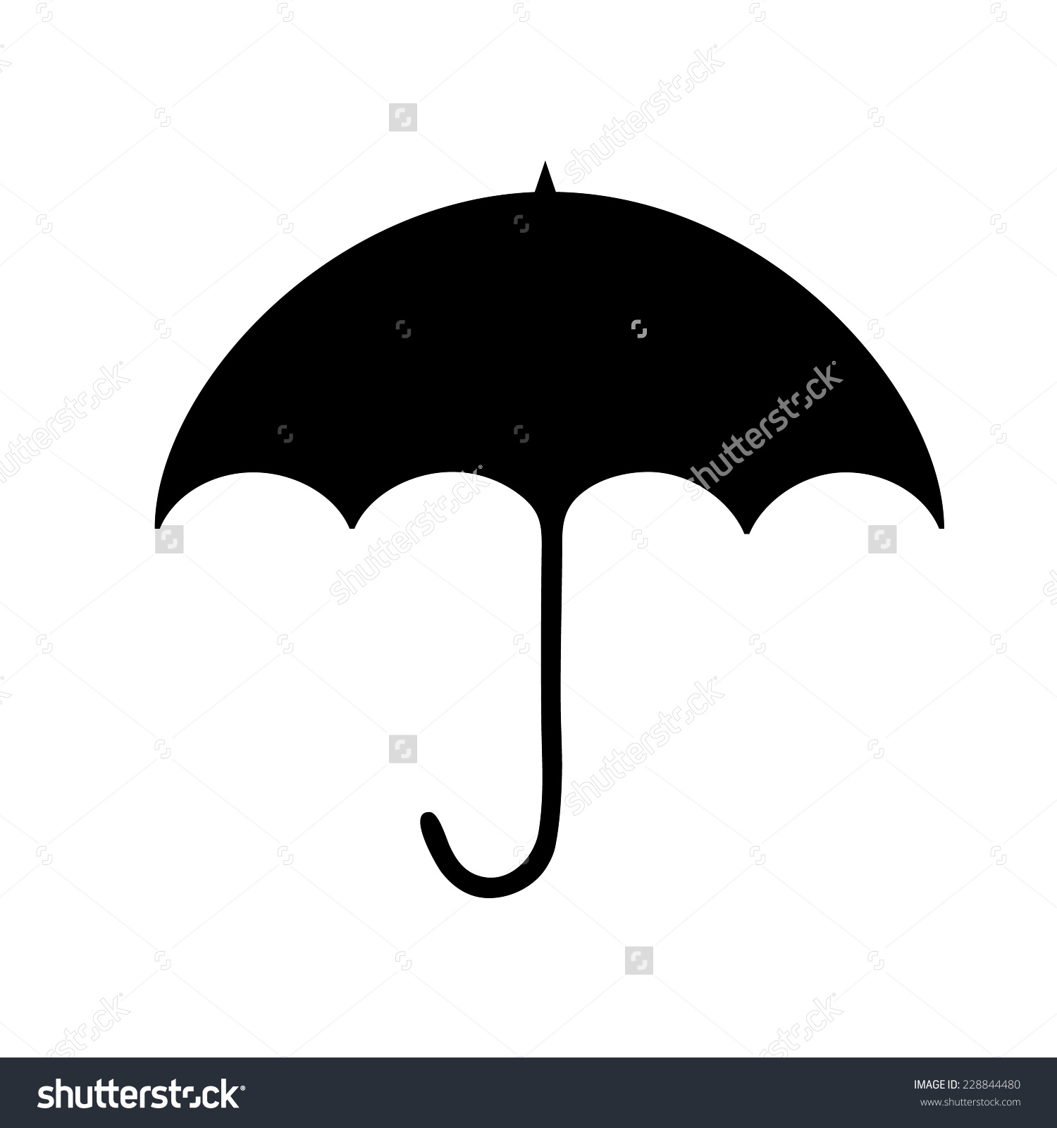 Black Umbrella Silhouette Clip Art Stock Vector 228844480.