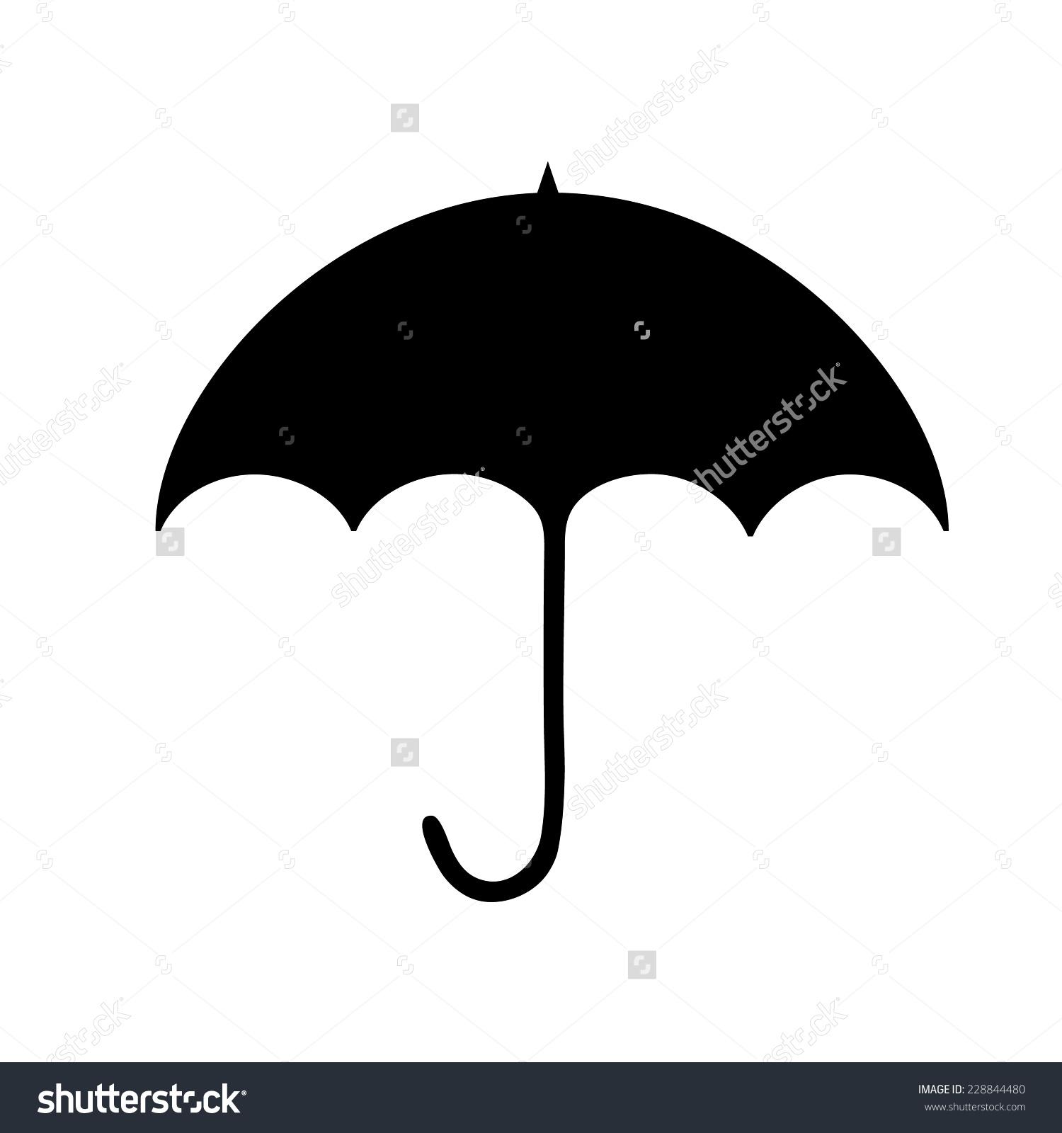 Black Umbrella Silhouette Clip Art Stock Vector 228844480.